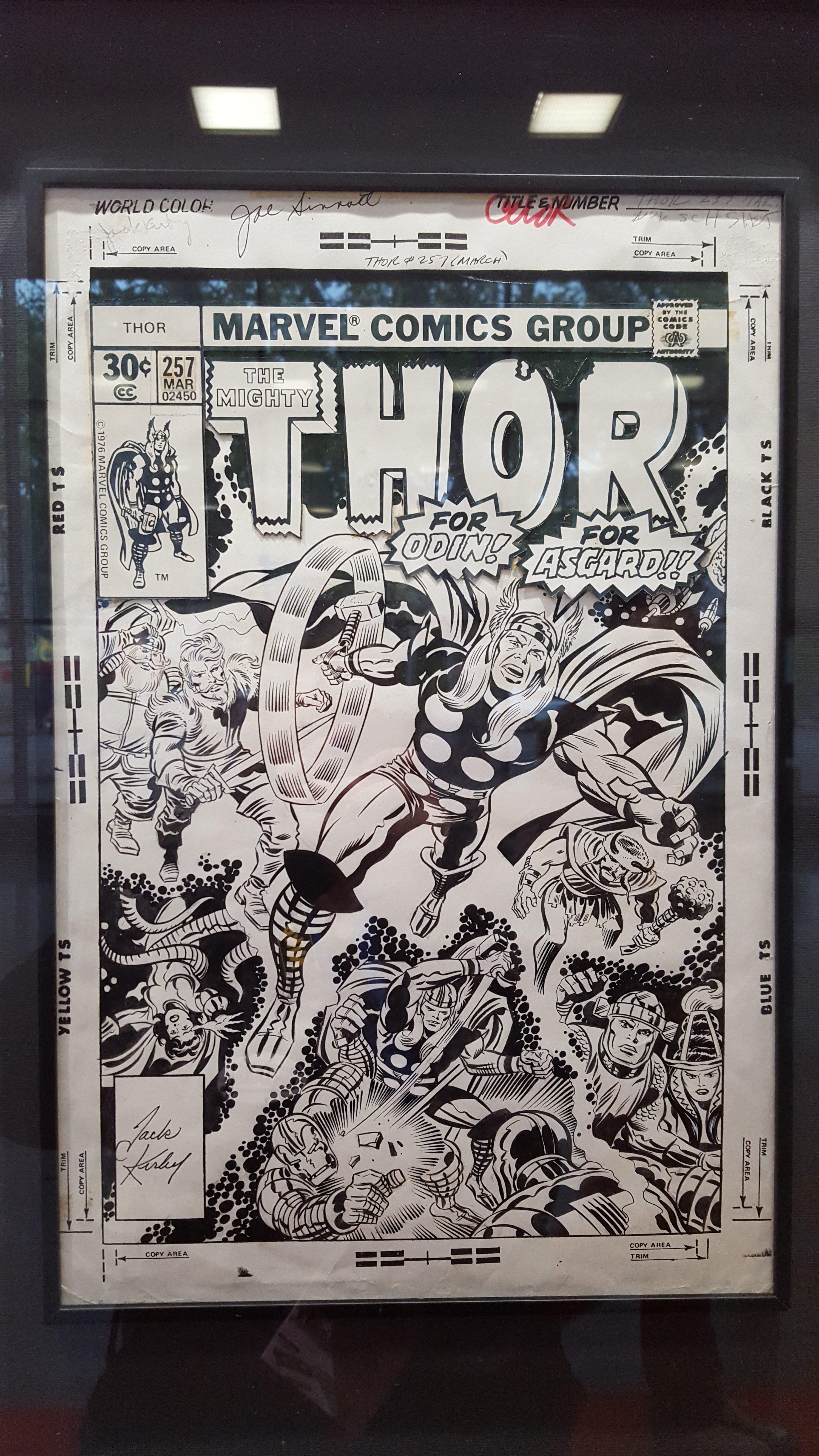 Portada original de Thor, de Jack Kirby