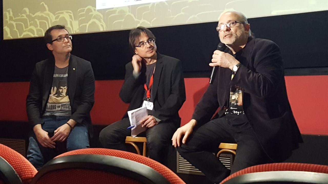 Àngel Sala y Francesc Sánchez Barba en el coloquio sobre Frankenstein