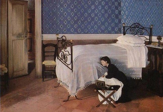 Interno con figura, de A. Cecioni
