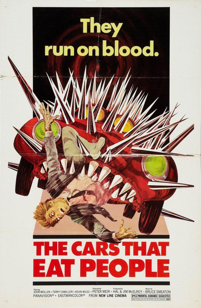 El cartel de Los coches que devoraron París, de Peter Weir, es impagable. Vía http://cartelesmix.es