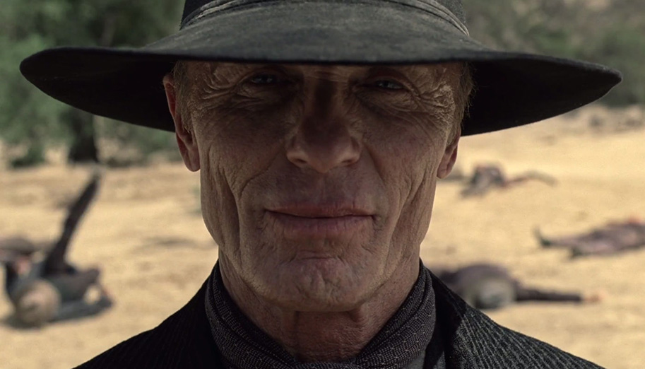 Ed Harris en Westworld.
