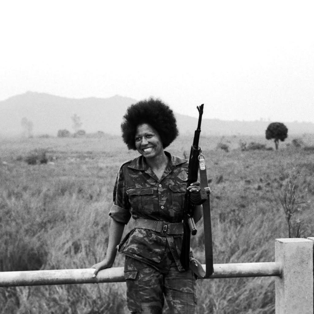 La guerrillera angoleña Carlota.