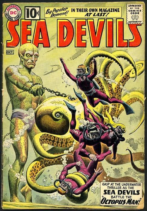 Portada de Russ Heath para Sea Devils.