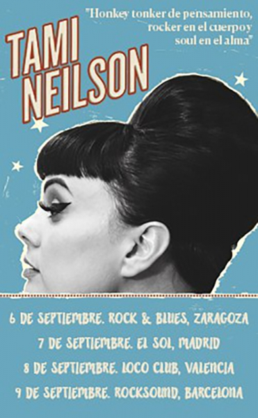 Cartel de la gira española de Tami Neilson