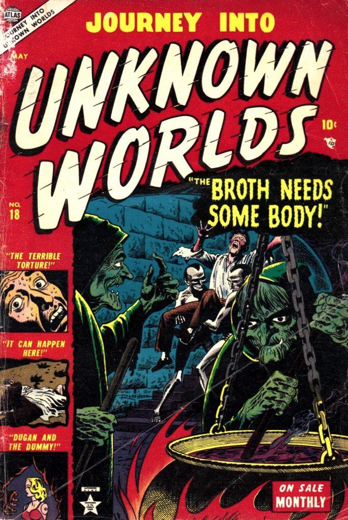 Portada de Russ Heath para Unknown Worlds.