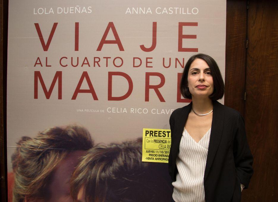 Celia Rico en el preestreno de la película en Granada. Foto de Alba Puga.