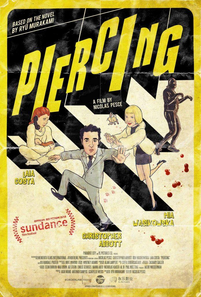 Cartel de Piercing, de Nicolas Pesce. 2018.