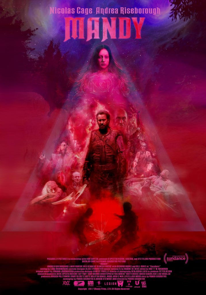 Cartel de Mandy, de Panos Cosmatos (2018).