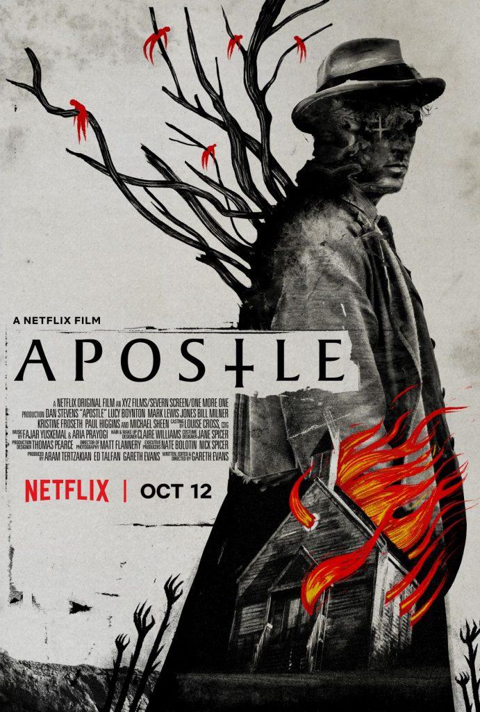 Cartel de la película El Apóstol, de Gareth Evans (2018).