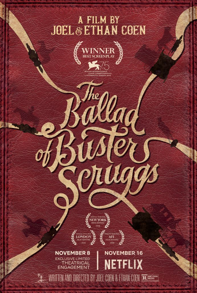 Cartel de The Balla of Buster Scruggs (Hnos Coen, 2018)