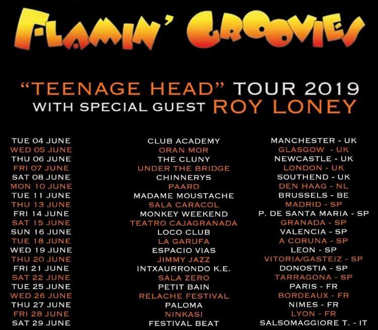 Flamin' Groovies - Teenage Head Tour 2019
